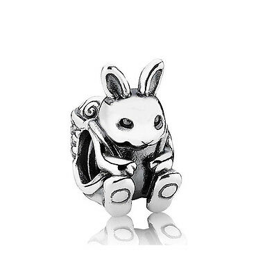 *Authentic Pandora Sterling Silver Easter Bunny Bead 791121 Rabbit Charm