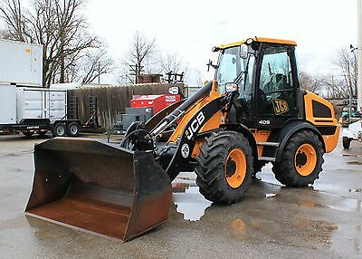 2014 JCB 409 Wheel Loader Low Hours Enclosed Cab 4x4 Heat Compact