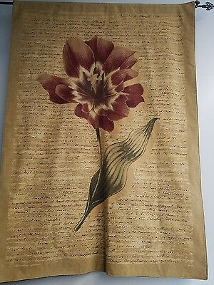 """Huge vintage Word love in French Flower Wall Hanging Tapestry  50"""" X 75"""""""