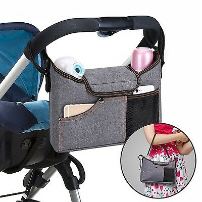 Stroller Organiser  Jerrybox Pram Buggy Buddy Storage Bag With Mobile Phone H...