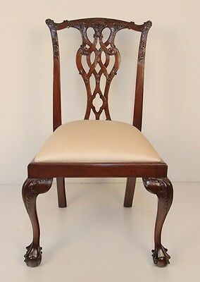 Set of ten Chippendale mahogany dining chairs