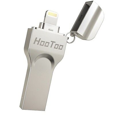 HooToo iPhone iPad iPod Flash Drive 128GB USB 3.0 to MFi Lightning connector ...