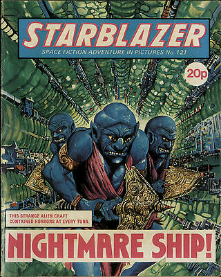 Nightmare Ship,starblazer Space Fiction Adventure In Pictures,no.121,1984