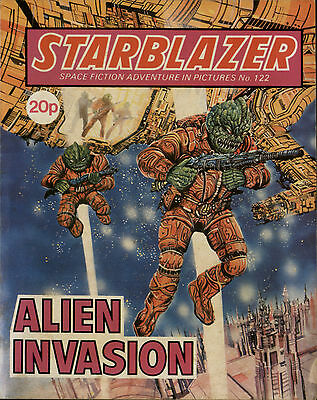 Alien Invasion,starblazer Space Fiction Adventure In Pictures,no.122,1984