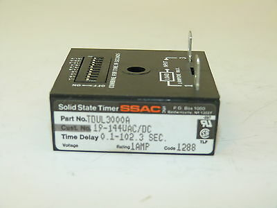 SSAC TDUL3000A Solid State Timer 0.1-102.3 Sec 1a Surplus
