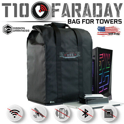 Mission Darkness T10 Faraday Bag for Computer Towers + XL Electronic Devices
