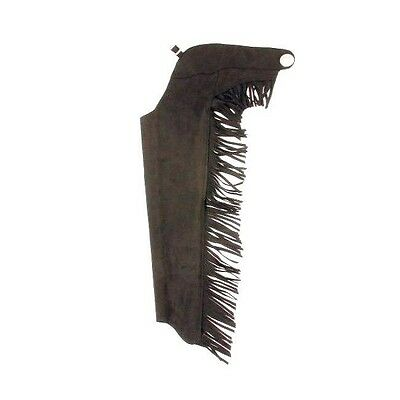 Tough-1 Youth Synthetic Suede Chaps Black Medium Horse Tack 63-316