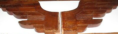 Antique Pair of Carved Wood Wings