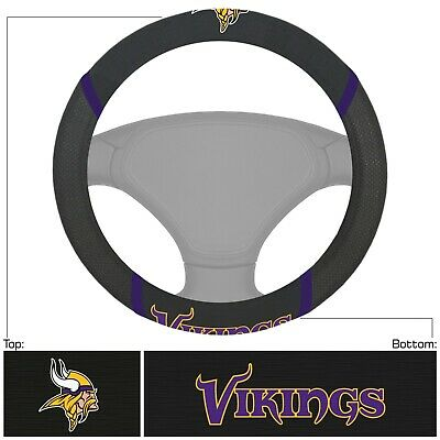 New NFL Minnesota Vikings Synthetic leather Car Truck Steering Wheel Cover
