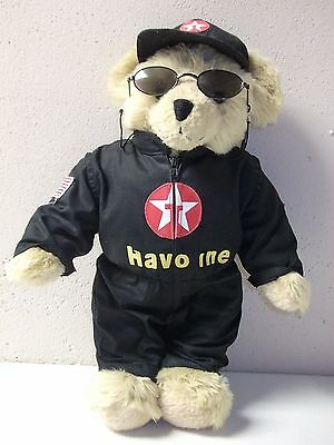 Texaco Havoline Speedy 2000 Racing Collectors Bear with Moveable Arms & Legs