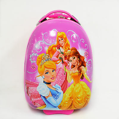 Kid Gift Wheeled Rolling Suitcase Travel Bag Luggage Trolley ( 16'' Princess B )
