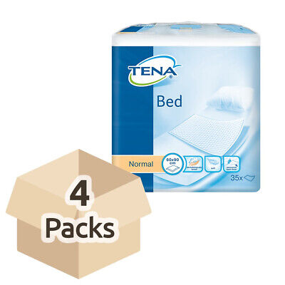 TENA Bed Normal - 60cm x 90cm - Case - 4 Packs of 35