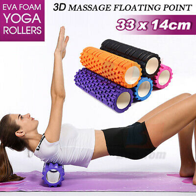 New Fitness EVA Foam Grid Roller Massage Muscle Relax Yoga Gym AU