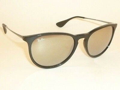 c0e6c9b14b New RAY BAN Erika Sunglasses Black Frame RB 4171 601 5A Gold Mirror Lenses