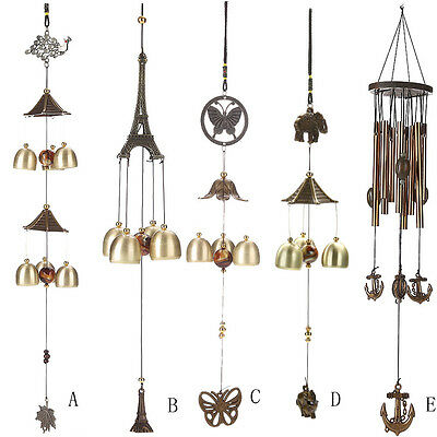 Outdoor Windchimes Wind Chime Tubes Bells Rustic Hanging Ornament Home Decor