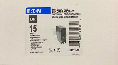 Cutler Hammer Eaton Brcaf115 Arc Fault Breaker New In Box