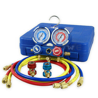 Hvac A/c Refrigeration Kit Ac Manifold Gauge Set Brass R134A Auto Service Kit