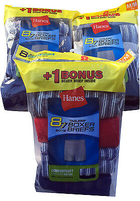 """Hanes  BOYS  BOXER BRIEFS 8-Pack """"TAGLESS""""   COMFORTSOFT  NEW"""