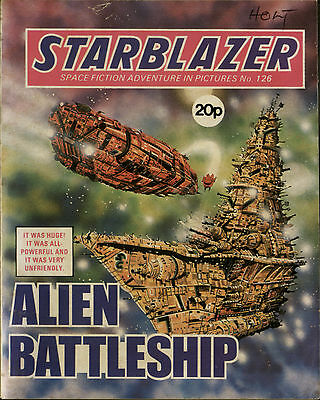 Alien Battleship,starblazer Space Fiction Adventure In Pictures,no.126,1984