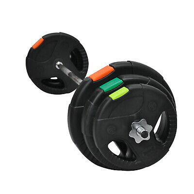 35KG -150CM BARBELL BAR WEIGHT SET - 7.5KG x 2 & 5KG x 2 & 2.5KG x2 WEIGHT PLATE