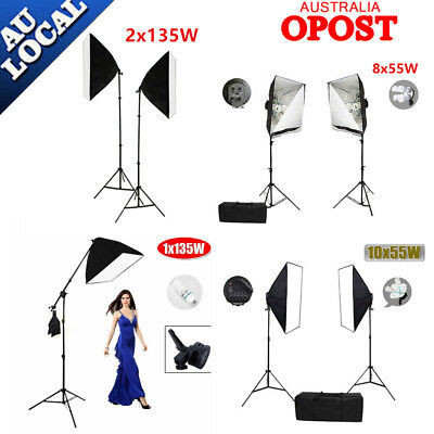Photo Studio Soft Box Continuous Lighting Video Softbox Boom Arm Light Stand KiT