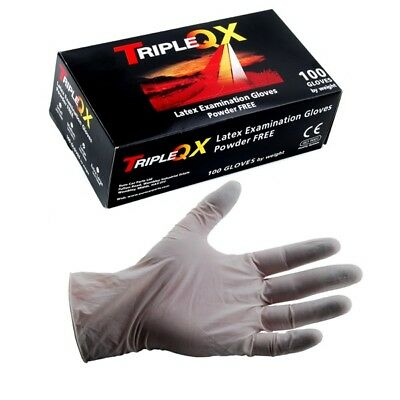 Latex Work Gloves 100 Pieces Large Powder Free Non Handed Triple QX ECP813795837