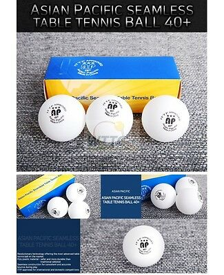 Asian Pacific 3 Star 40+mm Poly balls White table tennis Balls ITTF(Pack of 3)