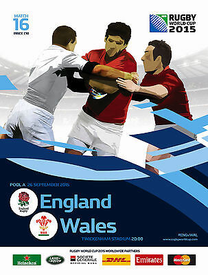 ENGLAND v WALES 26 Sep RUGBY WORLD CUP 2015 OFFICIAL PROGRAMME TWICKENHAM No 16