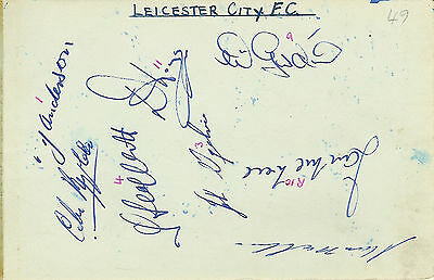 LEICESTER CITY / WEST BROM 1960s  SIGNED FOOTBALL ALBUM PAGE