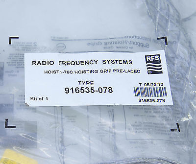 """Radio Frequency Systems RFS - Hoisting Grip, 7/8"""" Type 916535-078 Pre Laced"""