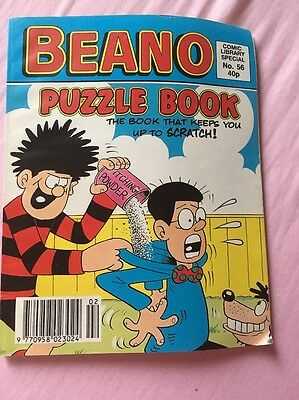 Beano Comic Library Special No. 56 Puzzle Book ***Rare Mint Condition***
