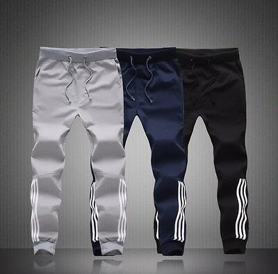 Mens Skinny Tapered Fit Gym Pants Bottom Jogger Tracks Sport Training Sweatpants