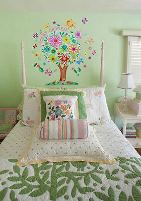 Oopsy Daisy  Flower Tree Peel And Place Fabric Wall Decals