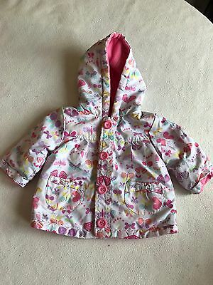 Baby Girls Clothes 3-6 Months - Cute Girl Fleece Lined Rain Jacket