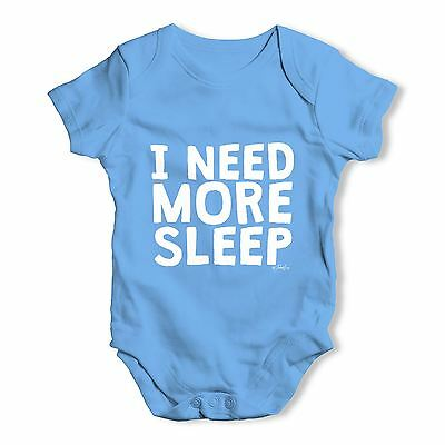 Twisted Envy I Need More Sleep Baby Unisex Funny Baby Grow Bodysuit