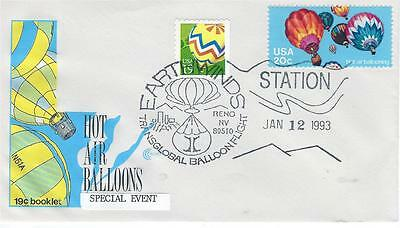 1993 Earthwinds Transglobal Ballon Flight Station USPS Pictorial Cancel Reno NV