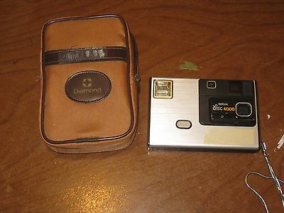 Vintage Kodak Disc 4000 Apparell & Camera in Padded Case Made in USA
