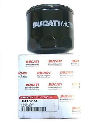 Ducati Motorcycle Genuine Black Oil Filter with Sump Washer Service # 44440035A