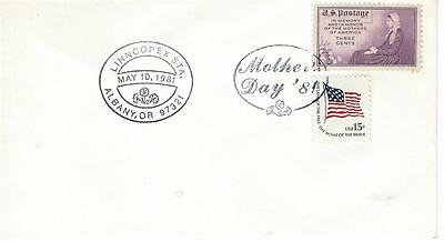 LINNCOPEX Sta May 10 1981 Mothers Day USPS Pictorial Cancel Albany OR