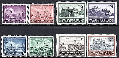 GERMANY 3rd REICH Occupations POLAND 1942-1944 Lublin 600th & Castles Issues MNH