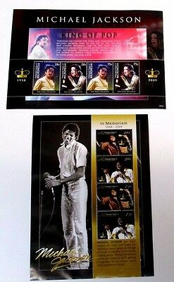 Micronesia 2009 Michael Jackson Memorial Sheets Complete(2) Very Fine Mint Nh