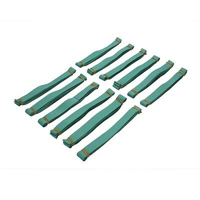 """Rubber Bands 30"""" GREEN 12pack. Use on pallets, trash cans, moving pads, storage"""