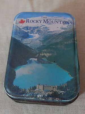 Canadian The Rocky Mountains tin (empty)