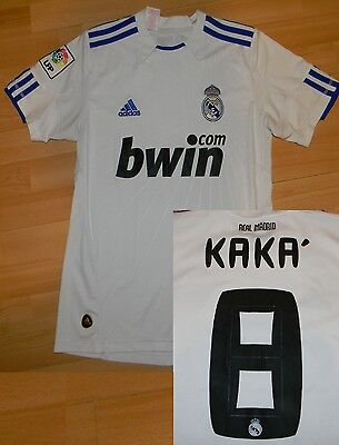 11014faa9 Real Madrid 2010 2011 home Kaka football shirt soccer jersey adidas bwin L  boys