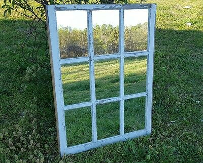 Vintage Sash Antique Wood Window Frame Pinterest Rustic 9 Pane  With Mirrors