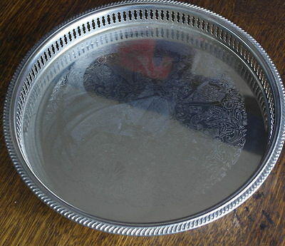vintage silver plateoval DRINKS SERVING TRAY