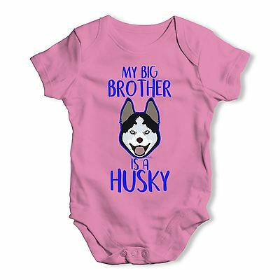 Personalised My Sibling Is A Husky Baby Unisex Funny Baby Grow Bodysuit