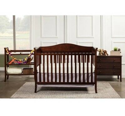 Baby Mod Bella Crib and 3 Drawer Dresser Set with BONUS Changing Table, Expresso