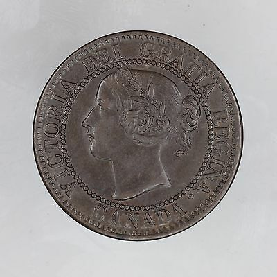 Canada, 1859 Large Cent 1c Penny, Victoria, High Grade