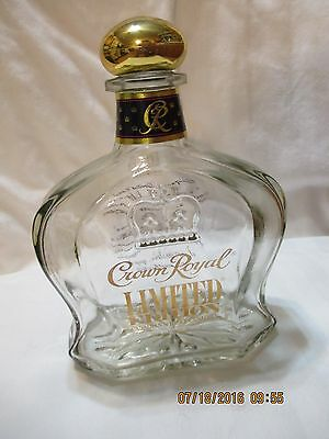 CROWN ROYAL LIMITED EDITION liquor decanter